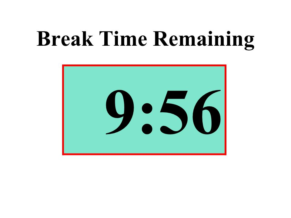 Break Time Remaining 9:56
