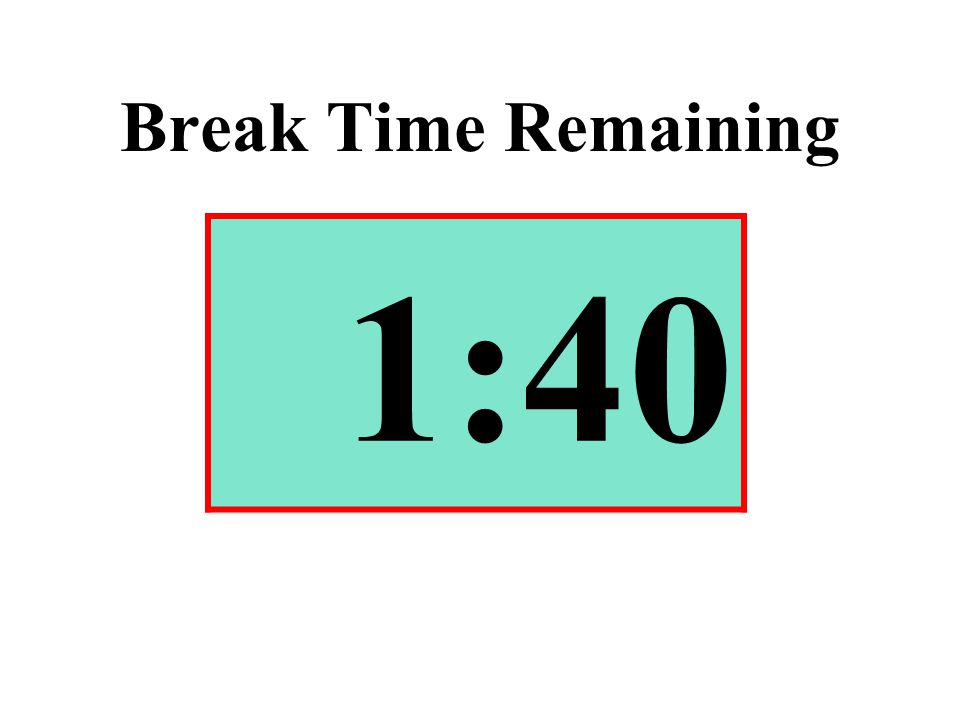 Break Time Remaining 1:40