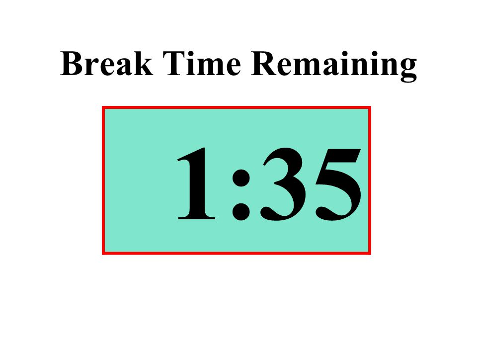Break Time Remaining 1:35
