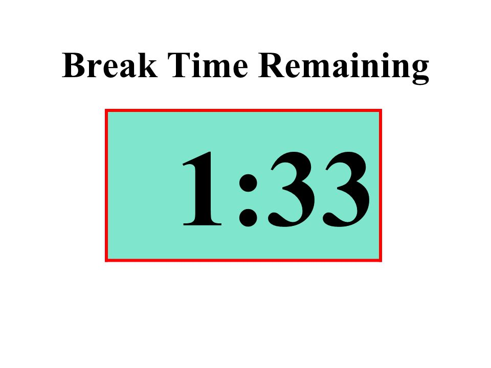 Break Time Remaining 1:33