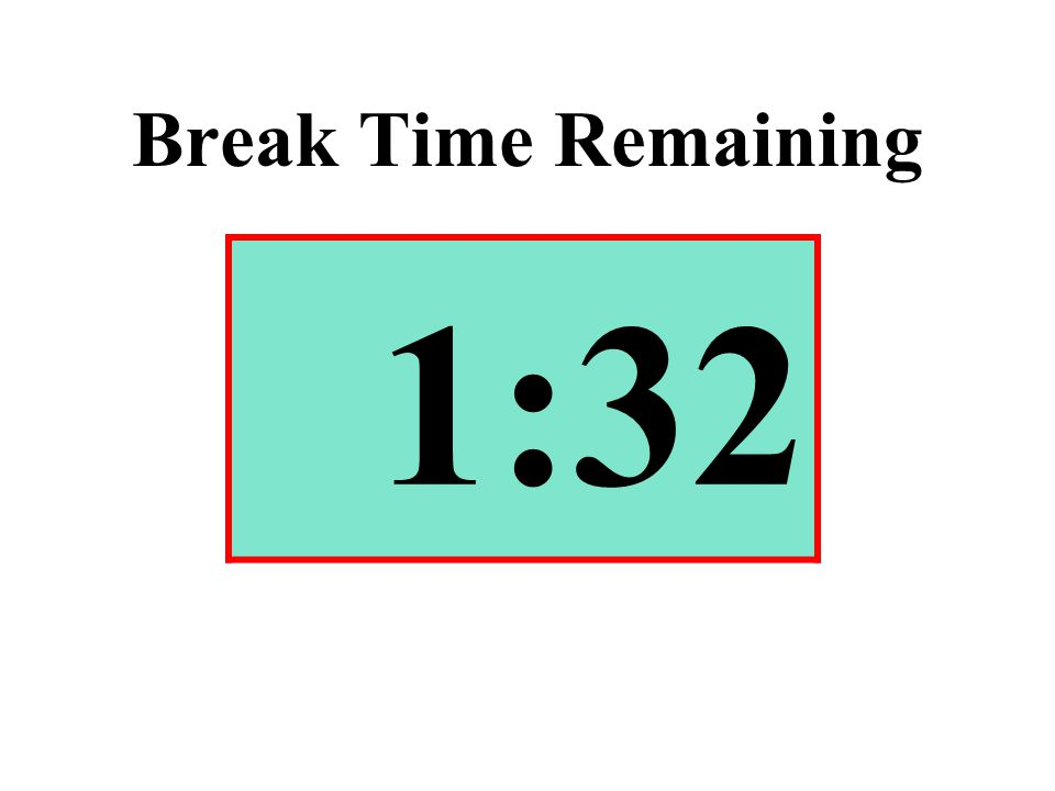 Break Time Remaining 1:32