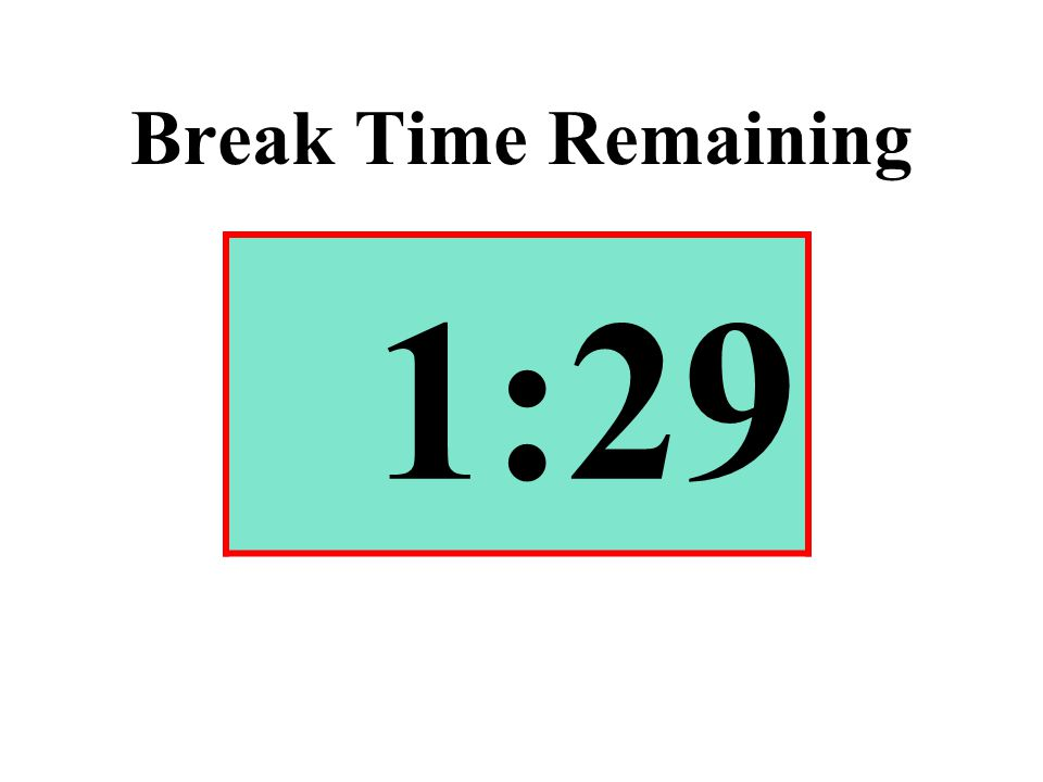 Break Time Remaining 1:29