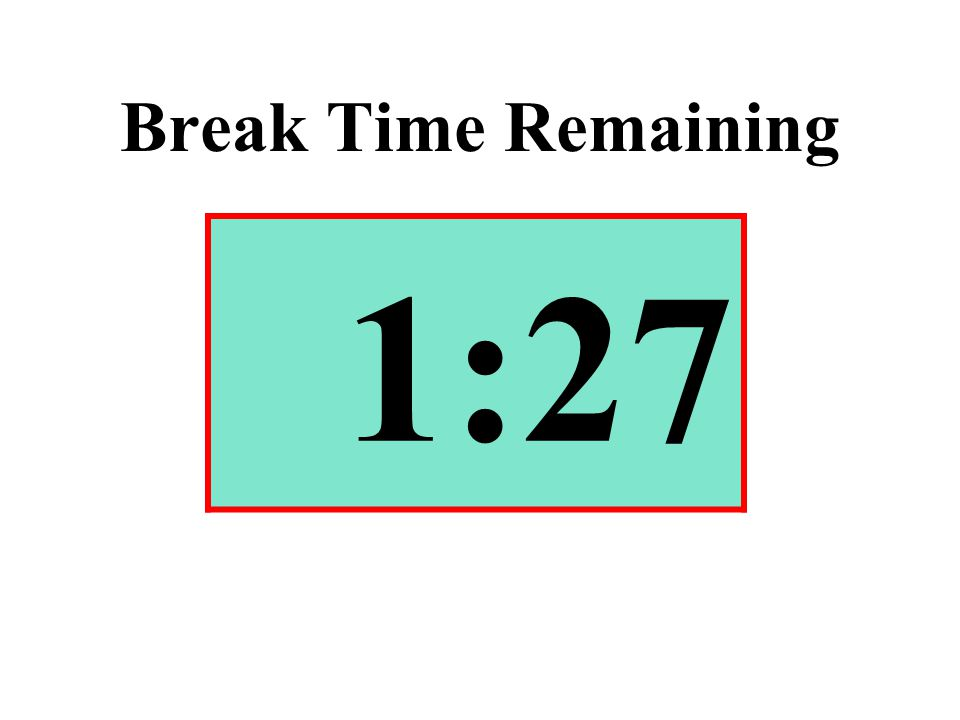 Break Time Remaining 1:27