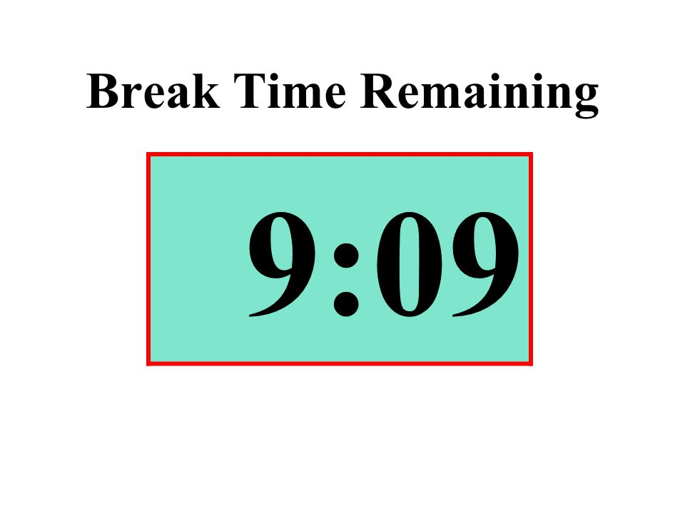 Break Time Remaining 9:09