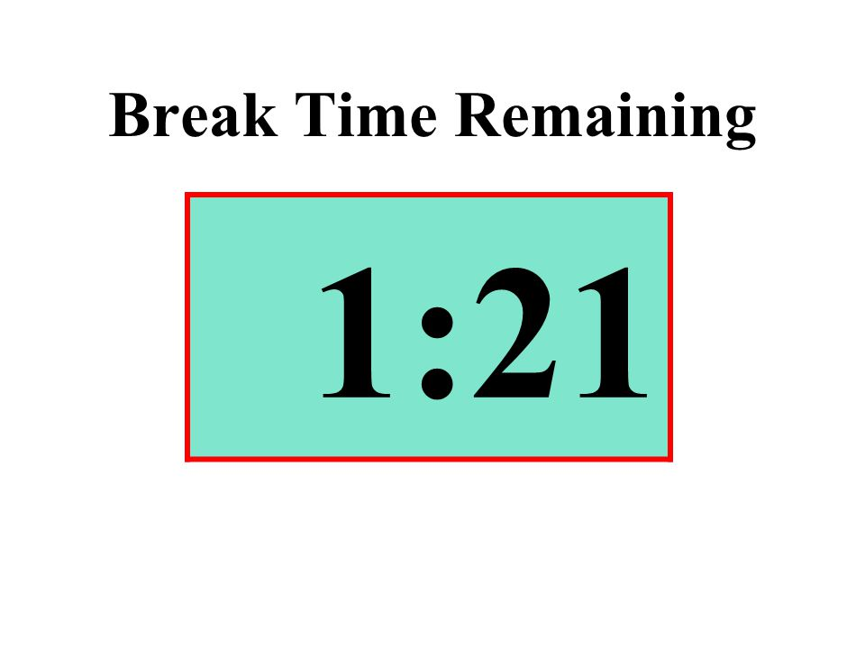 Break Time Remaining 1:21