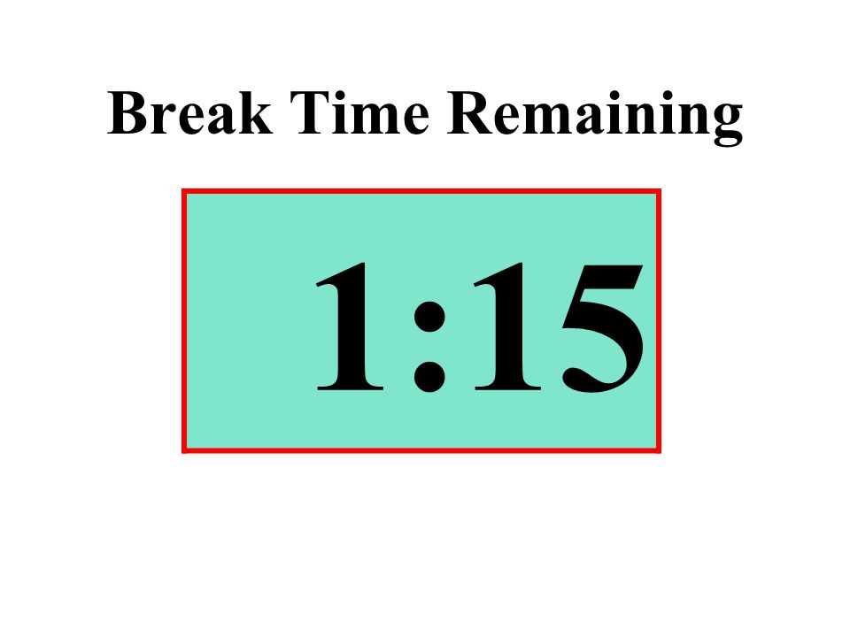 Break Time Remaining 1:15