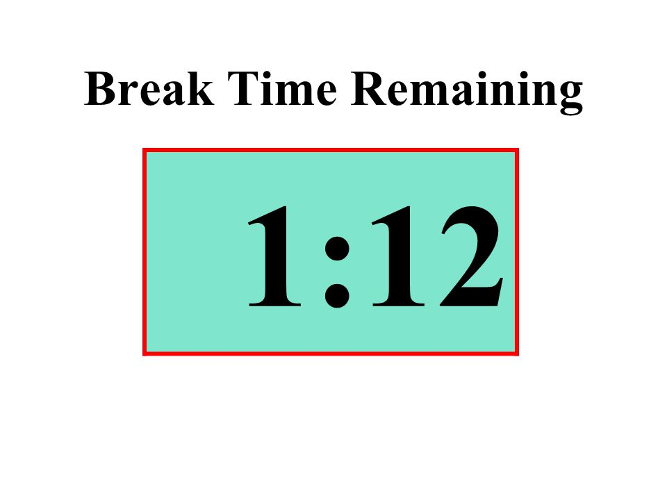 Break Time Remaining 1:12