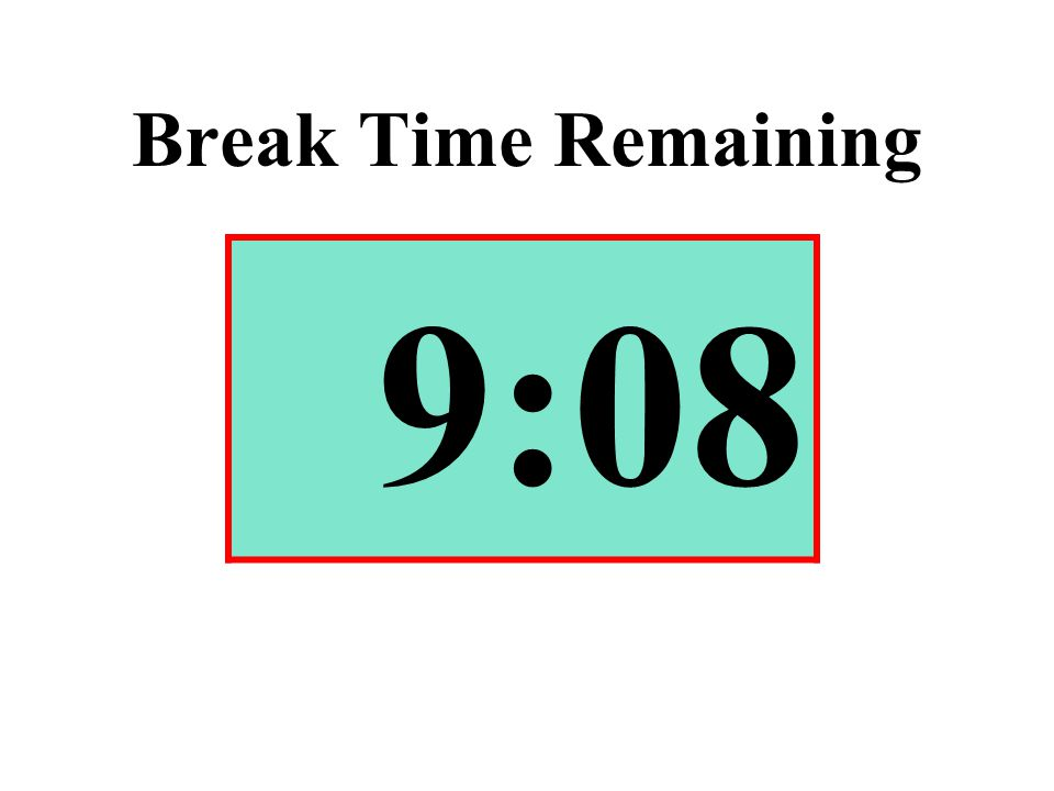 Break Time Remaining 9:08