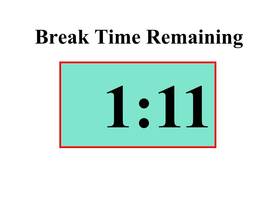 Break Time Remaining 1:11