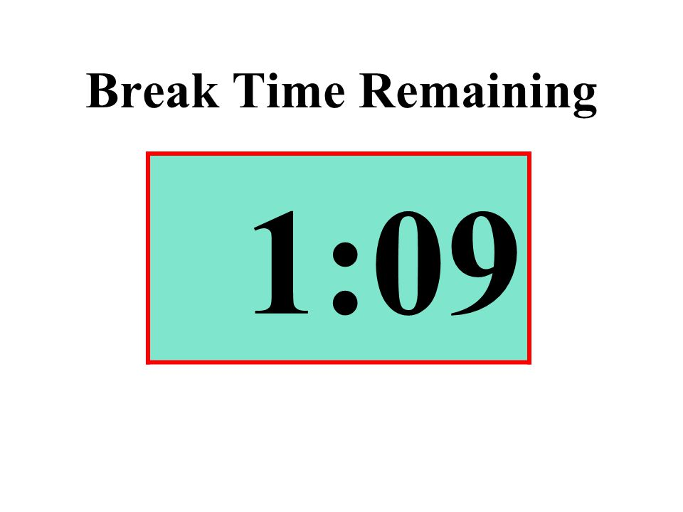 Break Time Remaining 1:09