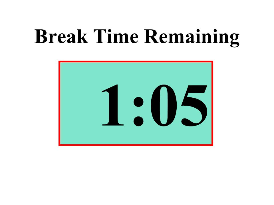 Break Time Remaining 1:05