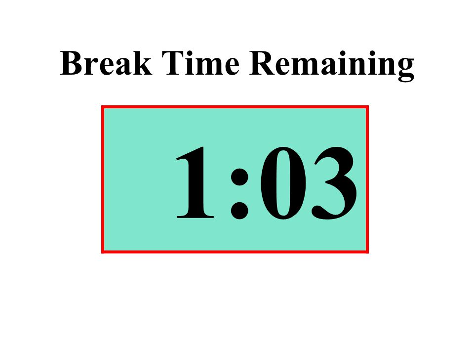 Break Time Remaining 1:03