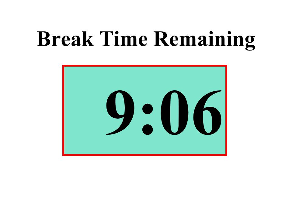 Break Time Remaining 9:06
