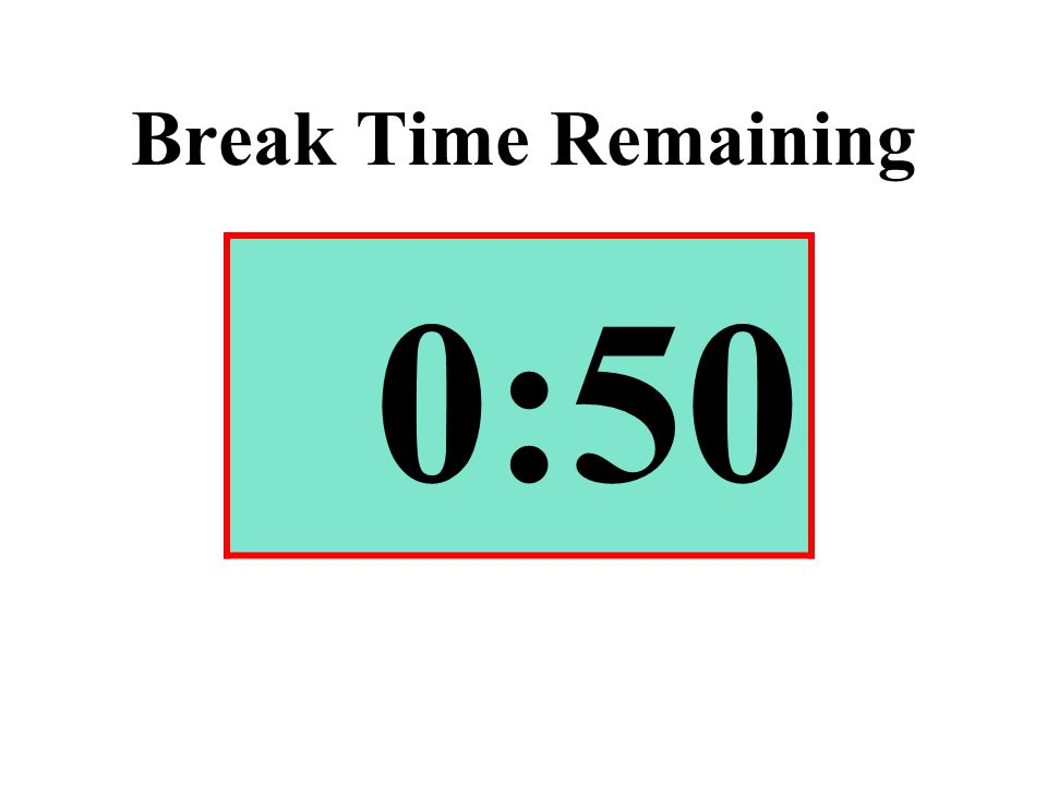 Break Time Remaining 0:50