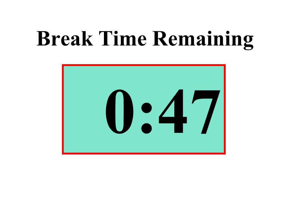 Break Time Remaining 0:47