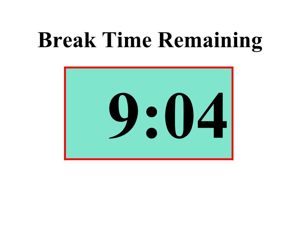 Break Time Remaining 9:04