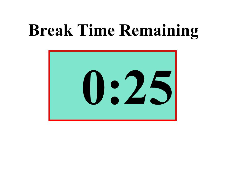 Break Time Remaining 0:25