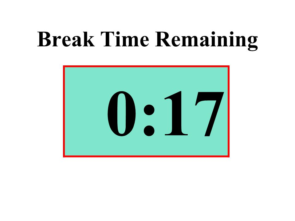 Break Time Remaining 0:17