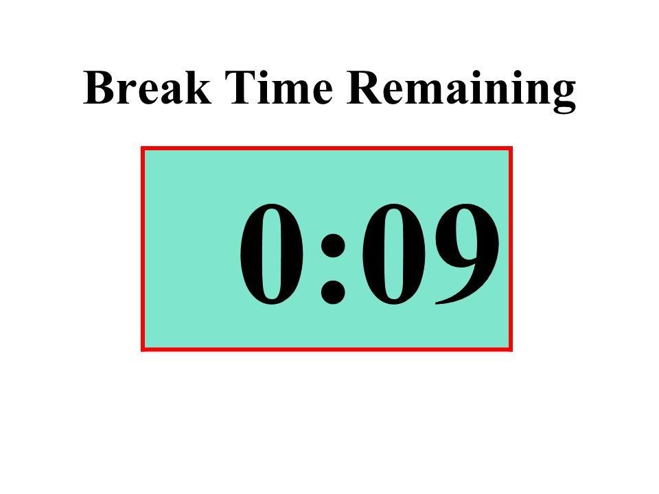 Break Time Remaining 0:09