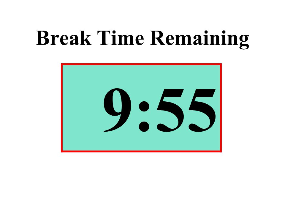 Break Time Remaining 9:55