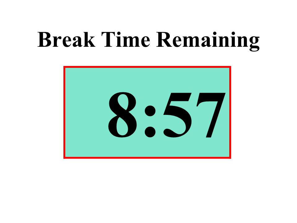 Break Time Remaining 8:57