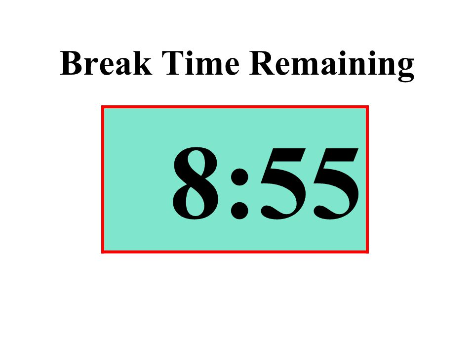 Break Time Remaining 8:55
