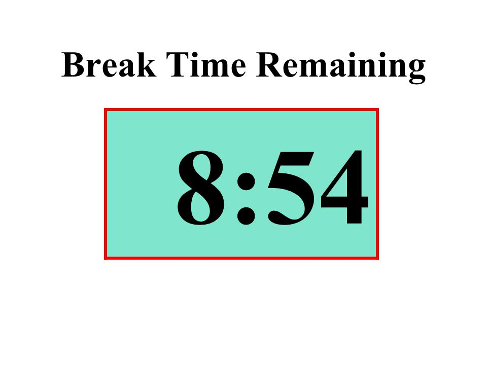 Break Time Remaining 8:54