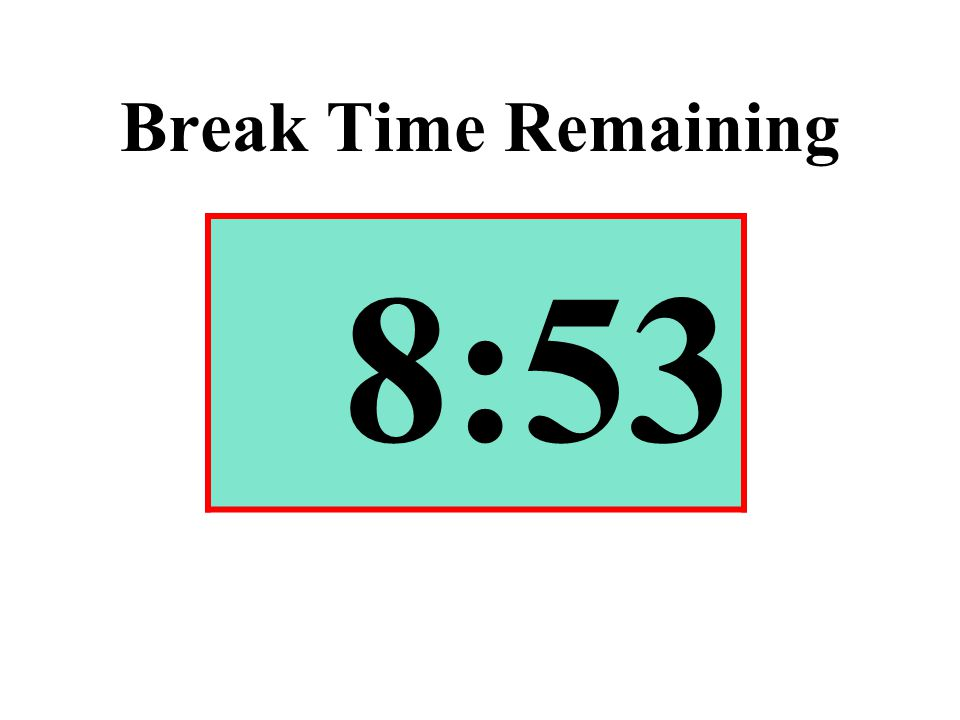 Break Time Remaining 8:53