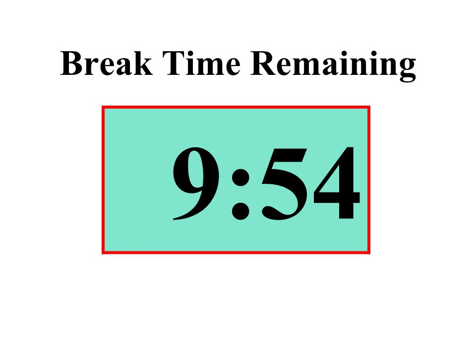 Break Time Remaining 9:54