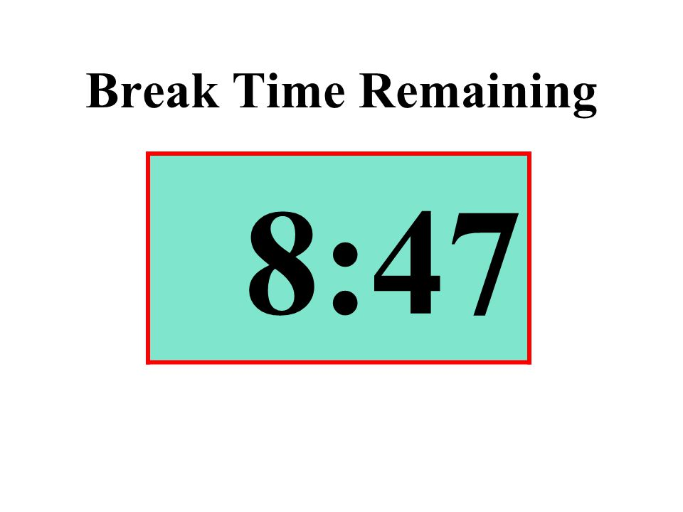 Break Time Remaining 8:47