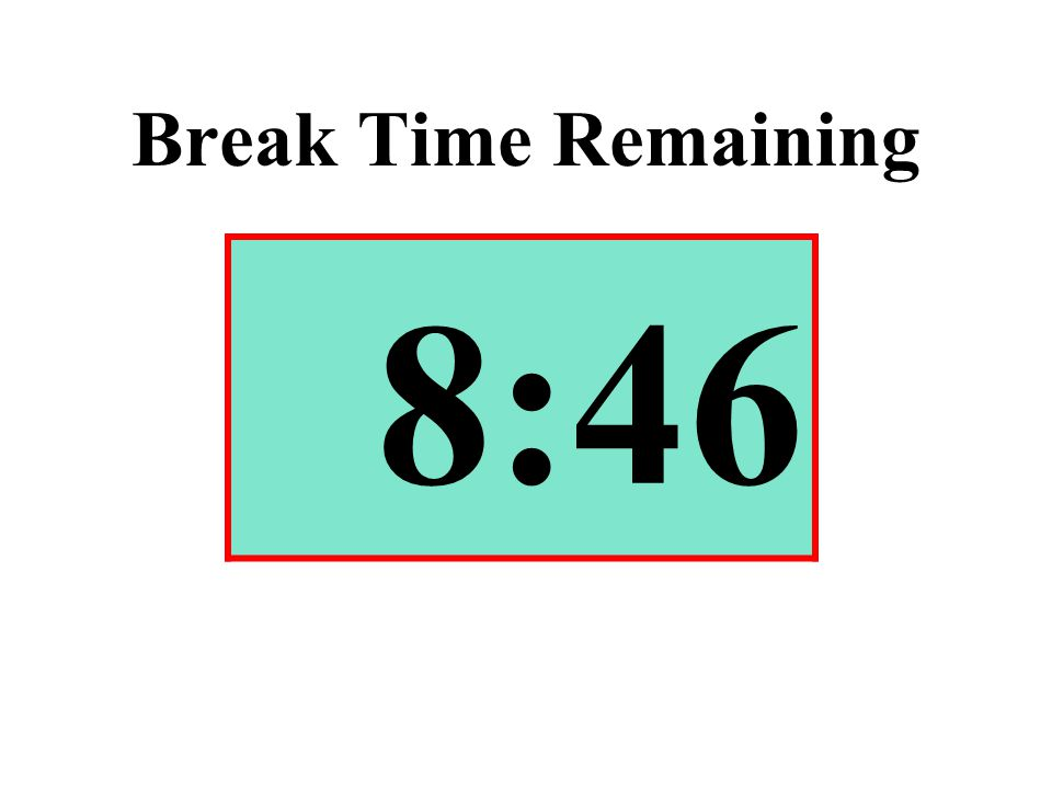 Break Time Remaining 8:46