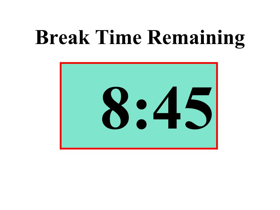 Break Time Remaining 8:45