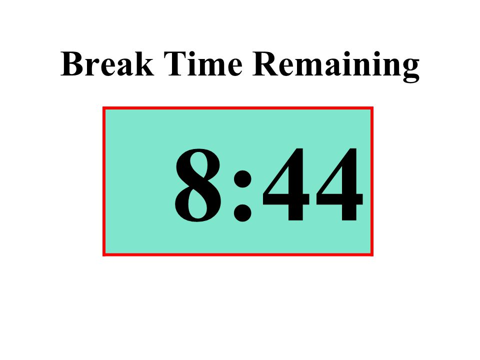Break Time Remaining 8:44