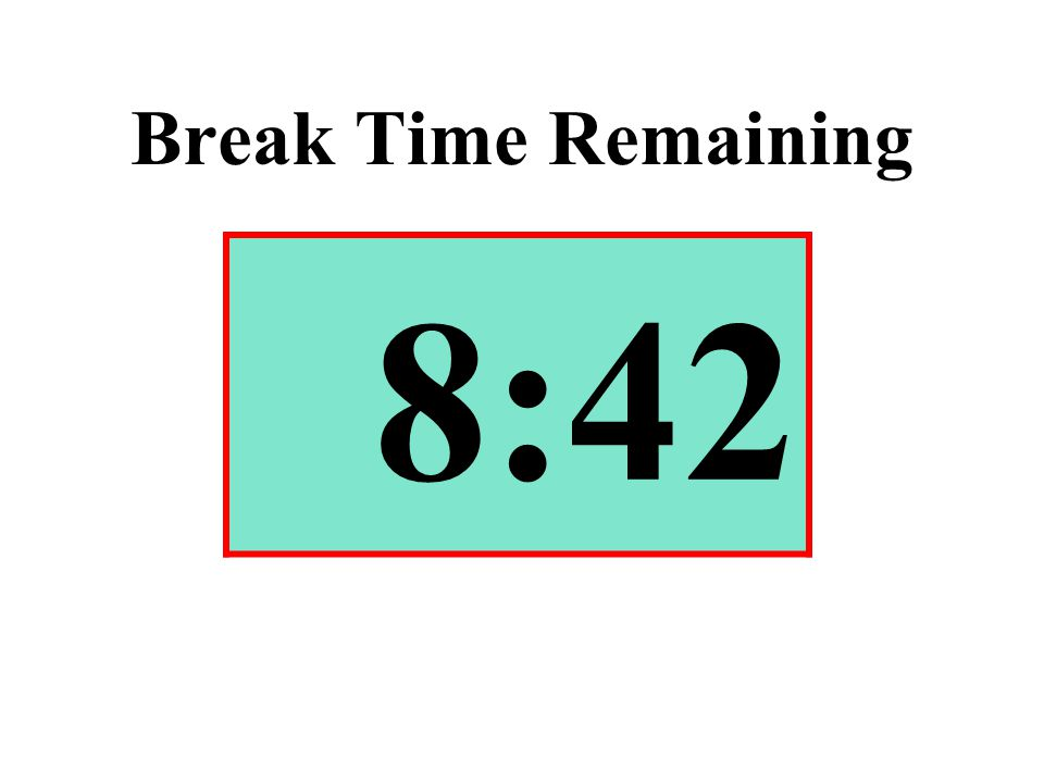 Break Time Remaining 8:42