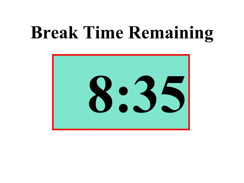 Break Time Remaining 8:35