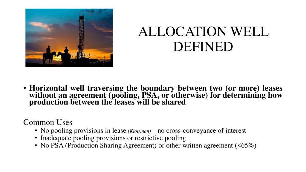 Production Allocation Definition