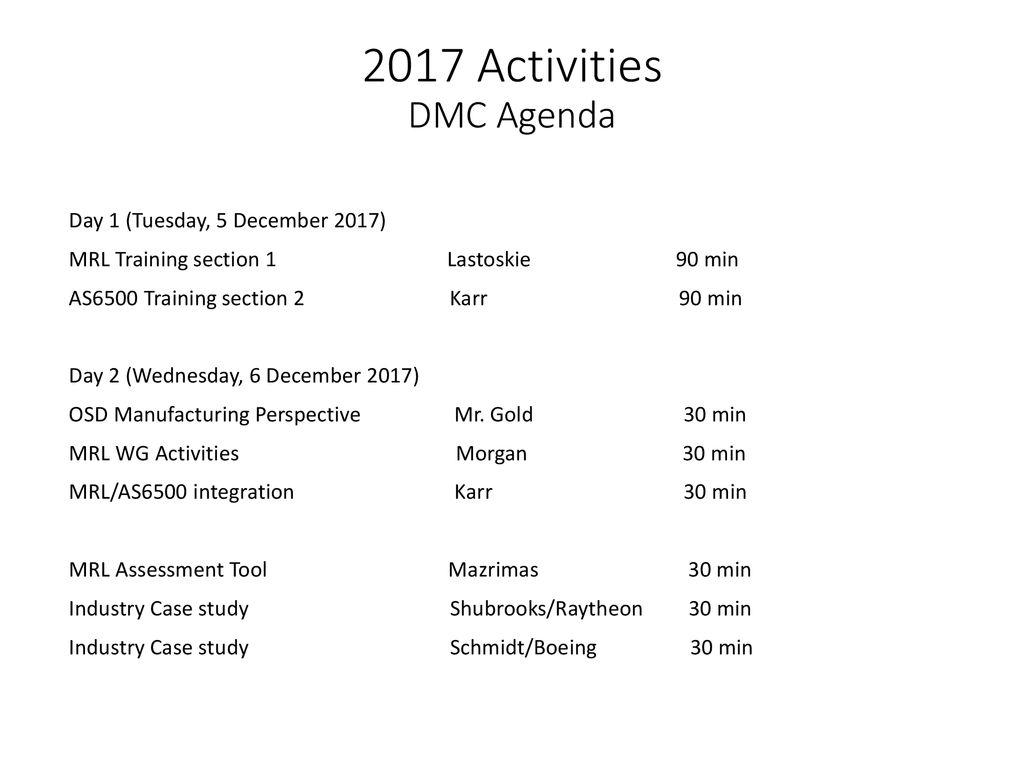 2017 MRL Working Group Activities Morgan/Stanley - ppt download