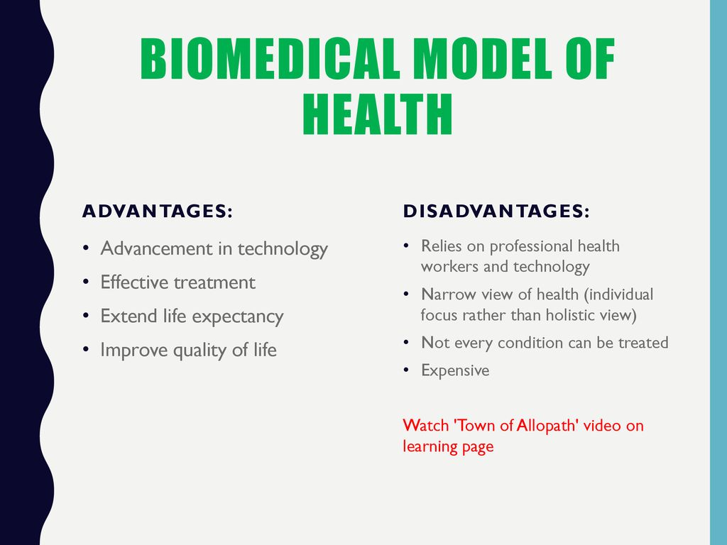 Biomedical Model of Health Ottawa Charter for health promotion - ppt