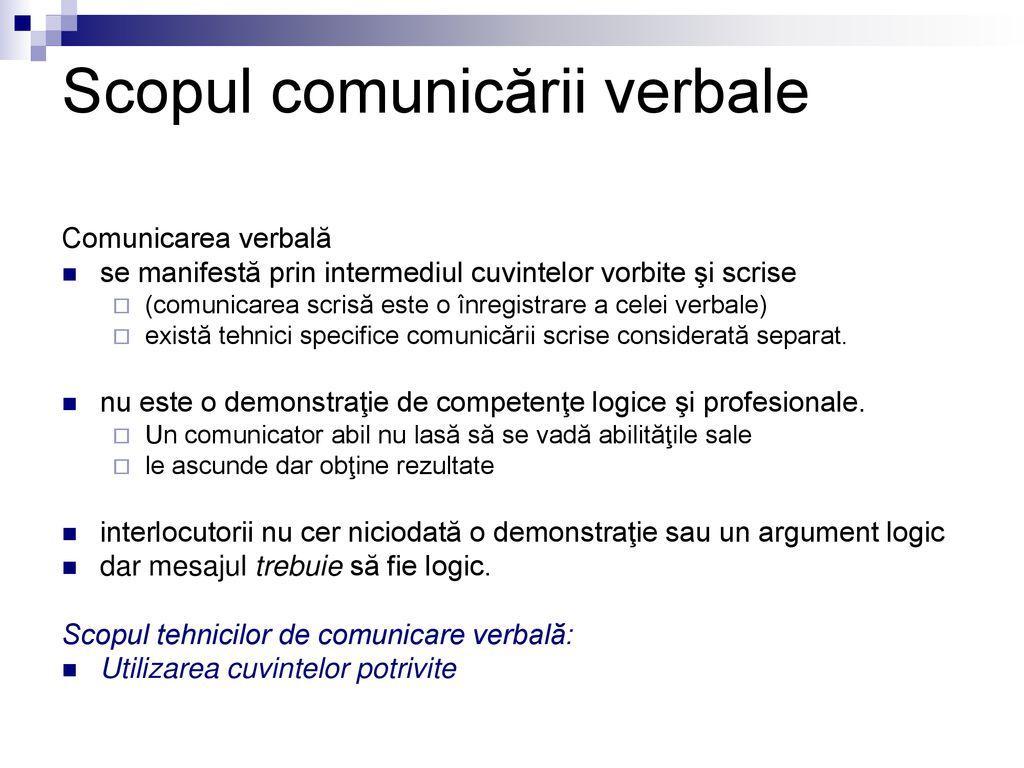 forme de comunicare verbala Femeie dating site ul alege omul