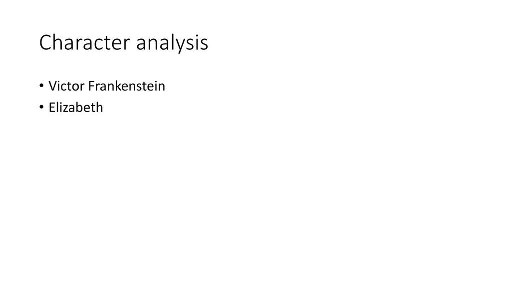 victor frankenstein analysis