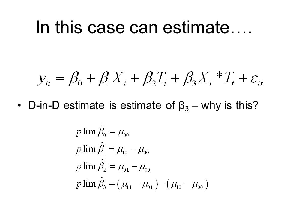 In this case can estimate….