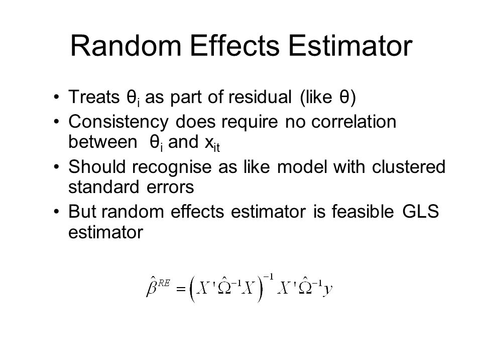 Random Effects Estimator