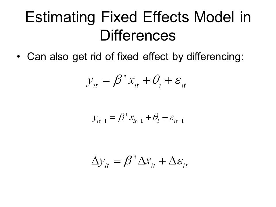Estimating Fixed Effects Model in Differences