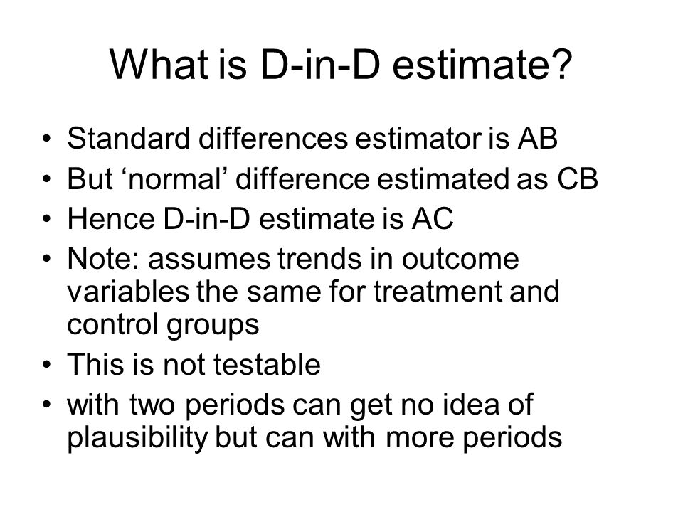 What is D-in-D estimate