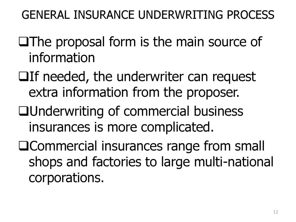 Insurance Underwriting Principles And Problems Ppt Download