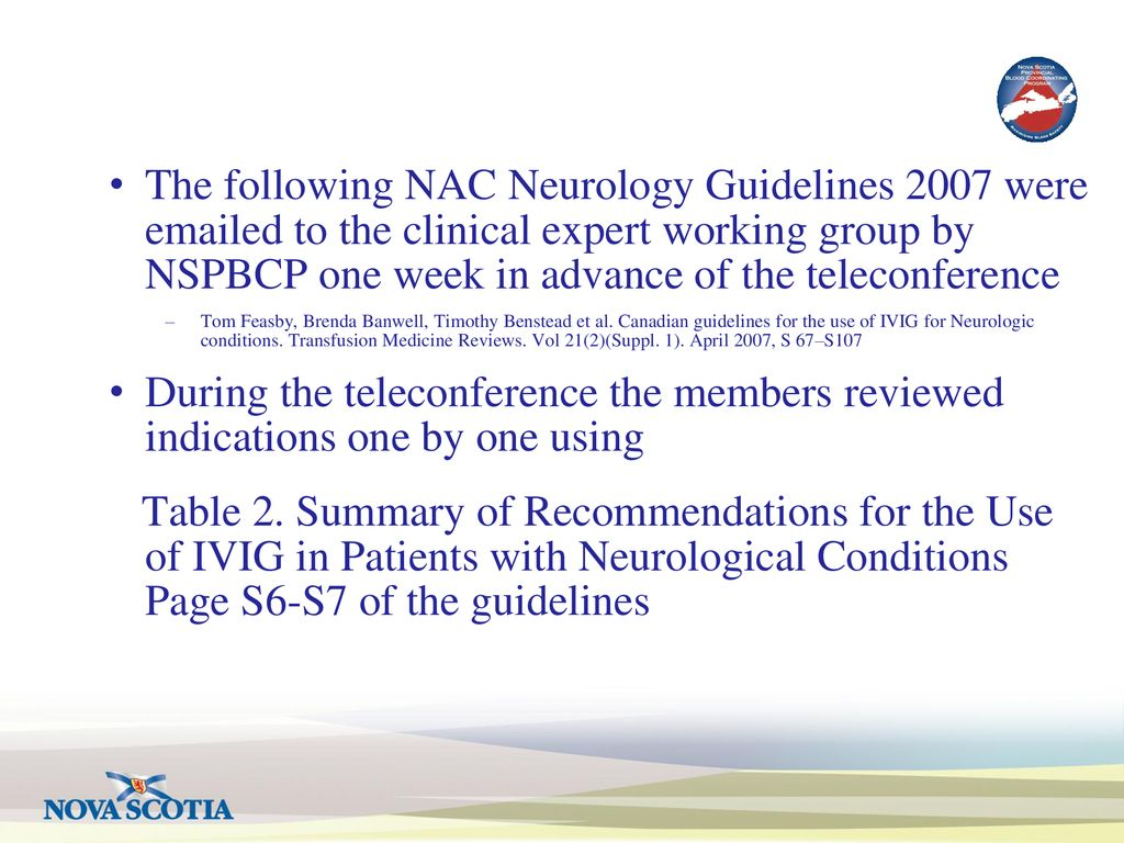 Update from Atlantic IVIG Neurology Working Group - ppt download