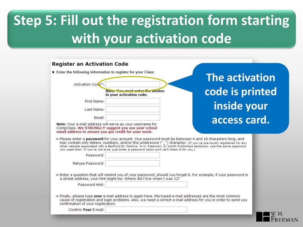 Access Code Registration Portals for - ppt download