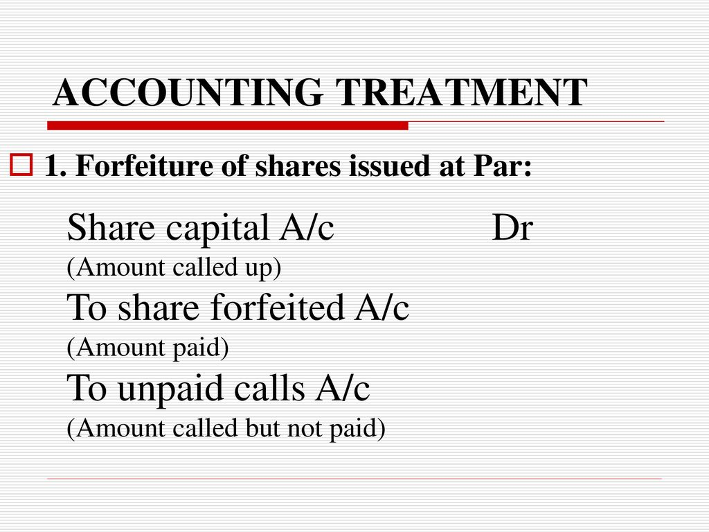 what is share forfeiture