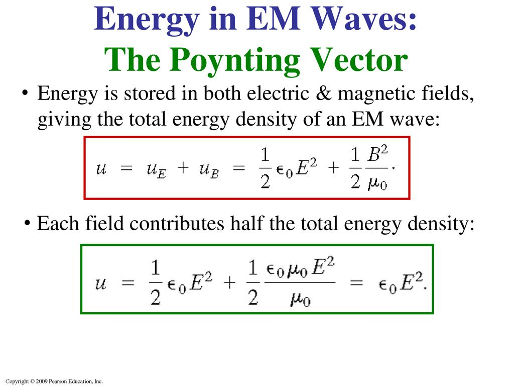 Energy in EM Waves: The Poynting Vector - ppt download