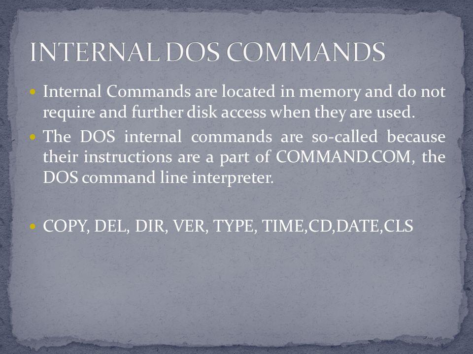 Dos Commands Ppt Video Online Download
